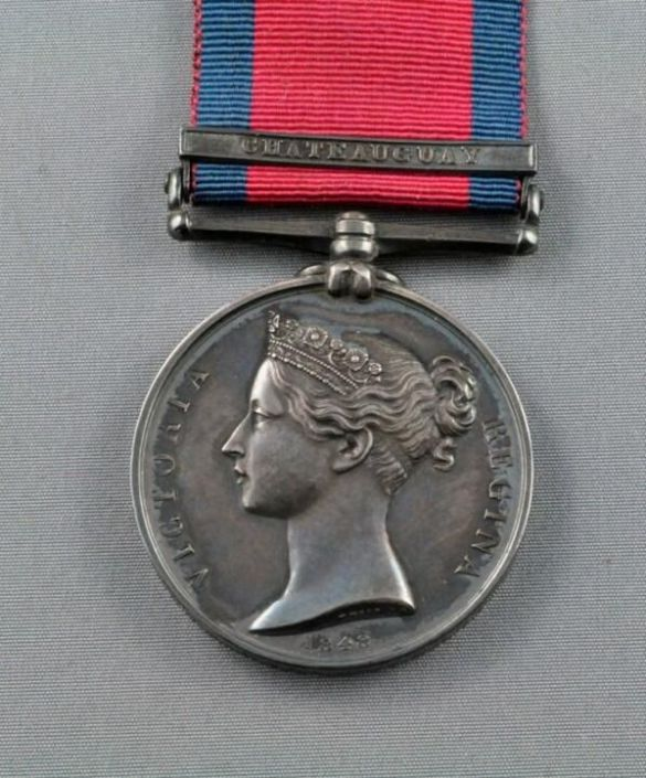 Medal for service in War of 1812 Battle of Chateauguay